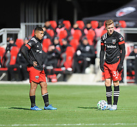 WASHINTON, DC - FEBRUARY 29: Washington, D.C. - February 29, 2020: Julian Gressel  #31 of D.C. United with Edison Flores #10 of D.C. United during a game between D.C. United and Colorado Rapids. The Colorado Rapids defeated D.C. United 2-1 during their Major League Soccer (MLS)  match at Audi Field during a game between Colorado Rapids and D.C. United at Audi FIeld on February 29, 2020 in Washinton, DC.