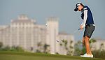 Players in action during the third day of the World Ladies Championship at the Mission Hills Haikou Sandbelt Trails course on 9 March 2013 in Hainan island, China . Photo by Victor Fraile / The Power of Sport Images