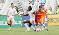 Tina Ellertson, Natasha Kai #6..Saint Louis Athletica defeated Sky Blue FC 1-0 at Anheuser-Busch Soccer Park, Fenton, Missouri.