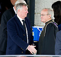 Sir Alex Ferguson leaves Mortonhall Crematorium after the funeral service for Sandy Jardine.