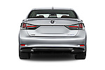 Straight rear view of 2016 Lexus GS F-Sport-RWD 4 Door Sedan Rear View  stock images