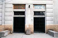 Entrances at Legia Warsaw FC Football Ground, Stadion Wojska Polskiego (Polish Army Stadium), ul Lazienkowska, Warsaw, Poland, pictured on 25th August 1996