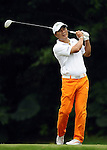 TAIPEI, TAIWAN - NOVEMBER 19:  Lu Chien Soon of Taiwan tees off on the 2nd hole during day two of the Fubon Senior Open at Miramar Golf & Country Club on November 19, 2011 in Taipei, Taiwan. Photo by Victor Fraile / The Power of Sport Images