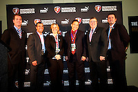 General Managers L-R Ilisa Kessler FC Gold Pride-Charlie Naimo LA Sol-Marcia McDermott Chicago Red Stars-Carlos Machado St Louis Athletica-Joe Cummings Boston Breakers-Ian Sawyers Sky Blue FC.WPS draft 2009-St Louis Convention and Visitors Center, St Louis, MO January 16 2006