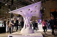 Nederland Eindhoven 2016 .DDW. Dutch Design Week. Strijp-S.  Arno Pronk. Fabric Formwork Shell Structures. Foto Berlinda van Dam / Hollandse Hoogte