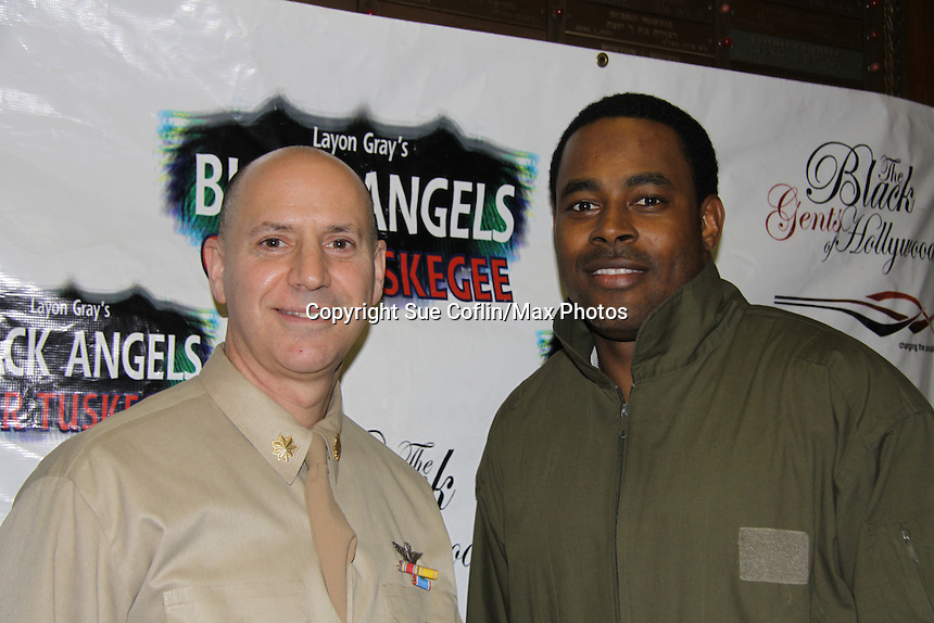 Cast Black Angels - Lamman Rucker & Steve Brustien on February 26, 2011 at the Actors Temple Theatre, New York City, New York. (Photo by Sue Coflin/Max Photos)
