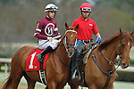HOT SPRINGS, AR - FEBRUARY 20: #1 Gun Runner, with Florent Geroux aboard before the running of the Razorback Handicap at Oaklawn Park on February 20, 2017 in Hot Springs, Arkansas. (Photo by Justin Manning/Eclipse Sportswire/Getty Images)