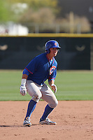 John Andreoli of the Chicago Cubs runs the bases during a Minor League Spring Training Game against the Los Angeles Angels at the Los Angeles Angels Spring Training Complex on March 23, 2014 in Tempe, Arizona. (Larry Goren/Four Seam Images)