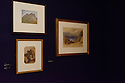 Kendal, UK. 12.11.2015. Artist, Uta Kogelsberger's, New Expressions 3 'New Opportunities Award' exhibition at Abbot Hall Art Gallery, Kendal. Supported by Arts Council England, and Lakeside Arts, the work is inspired by the story of the last Golden Eagle living in the UK. Picture shows: Watercolours in the collection that inspired some of Uta's other work for the commission. Photograph © Jane Hobson.