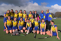 The Bay of Plenty team poses for a group photo after the National Women's Association Under-18 Hockey Tournament 11th place playoff match between Thames Valley and Bay of Plenty at Twin Turfs in Clareville, New Zealand on Saturday, 15 July 2017. Photo: Dave Lintott / lintottphoto.co.nz
