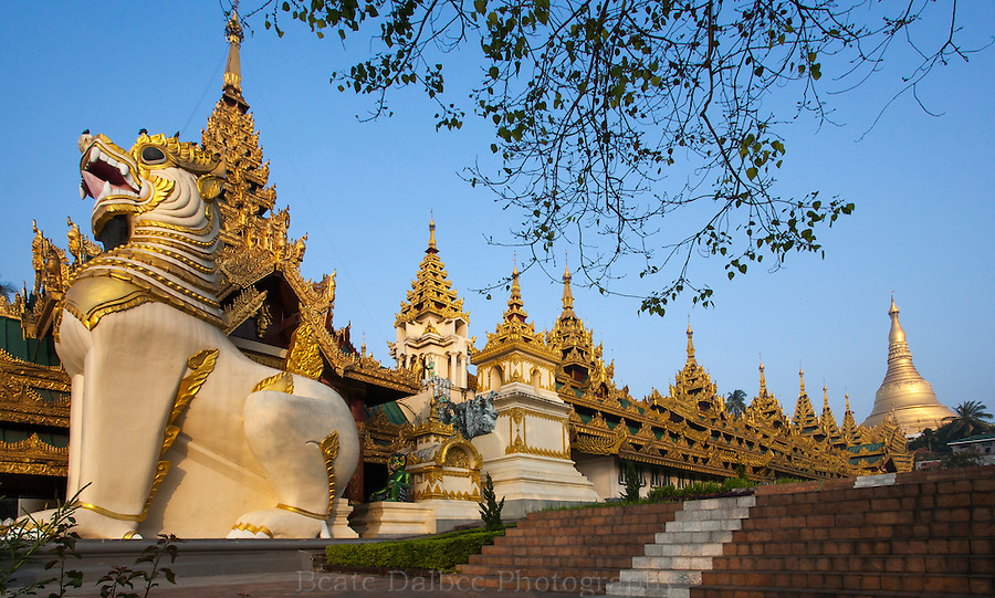 Entrance to the Shwedagon pagoda, Yangon Myanmar