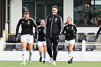 headcoach Jimmy Coenraets of OH Leuven pictured during a female soccer game between Oud Heverlee Leuven and RSC Anderlecht on the fifth matchday of the 2021 - 2022 season of Belgian Womens Super League , sunday 3 October 2021  in Leuven , Belgium . PHOTO SPORTPIX.BE   SEVIL OKTEM