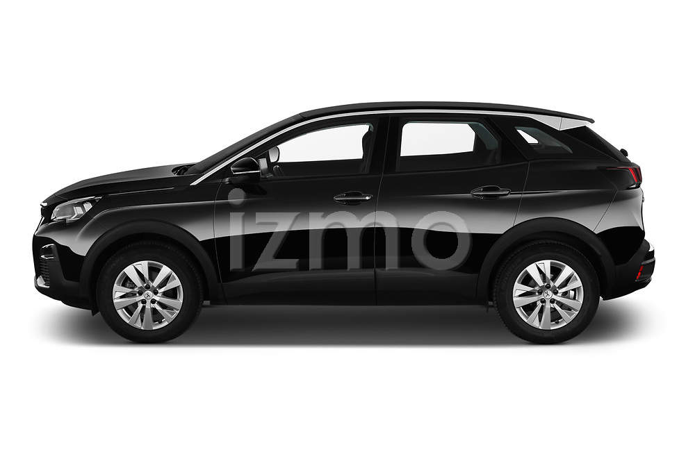 Car driver side profile view of a 2018 Peugeot 3008 Active 5 Door SUV