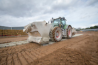 Applying & incorporating cement to stabalise the soil amd increase ground loading capability