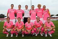 Sky Blue FC starting eleven. Sky Blue FC and the Washington Freedom played to a 1-1 tie during a Women's Professional Soccer (WPS) match at Yurcak Field in Piscataway, NJ, on August 11, 2010.