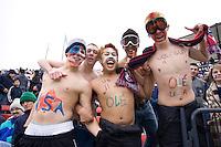 USA fans at Pizza Hut Park in Frisco, Texas, Sunday, Feb. 19, 2005.  USA won 4-0.