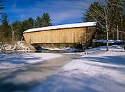 Corbin Covered Bridge, which crosses the Sugar River in Newport, New Hampshire USA.