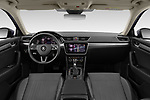 Stock photo of straight dashboard view of 2020 Skoda Superb-Combi-iV Style 5 Door Wagon Dashboard