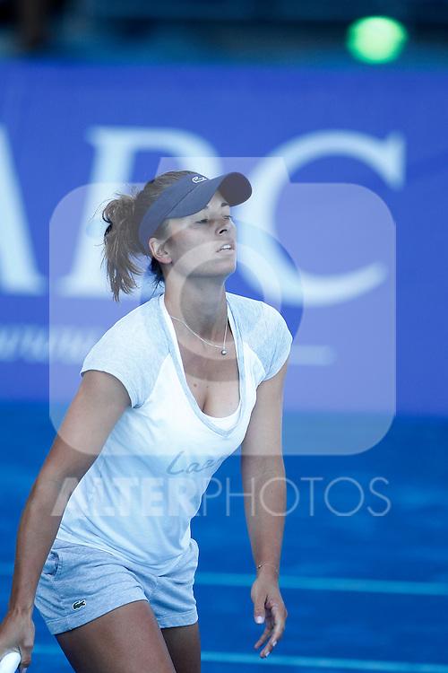 Petra Cetkovska in training session during Madrid Open Tennis 2012 Match.May, 9, 2012(ALTERPHOTOS/ALFAQUI/Acero)