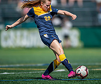 1 September 2019: Merrimack College Warrior Forward Izzy McDonnell, a Junior from Fall River, MA, scores the game-tying goal in the second half of play against the University of Vermont Catamounts in Game 3 of the TD Bank Women's Soccer Classic at Virtue Field in Burlington, Vermont. The Lady Warriors rallied in the second half to defeat the Catamounts 2-1. Mandatory Credit: Ed Wolfstein Photo *** RAW (NEF) Image File Available ***