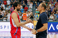 Milos Teodosic Igor Rakocevic Srbija - Rusija prijateljska utakmica, Serbia - Russia friendly basketball game EUROBASKET 2015, 16.8.2015.<br /> 16. Avgust  2015. (credit image & photo: Pedja Milosavljevic / STARSPORT)