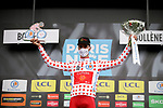 Anthony Perez (FRA) Cofidis retains the mountains Polka Dot Jersey at the end of Stage 5 of Paris-Nice 2021, running 200km from Vienne to Bollene, France. 11th March 2021.<br /> Picture: ASO/Fabien Boukla   Cyclefile<br /> <br /> All photos usage must carry mandatory copyright credit (© Cyclefile   ASO/Fabien Boukla)