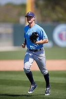 Tampa Bay Rays Jake Stone (74) during a Minor League Spring Training game against the Minnesota Twins on March 15, 2018 at CenturyLink Sports Complex in Fort Myers, Florida.  (Mike Janes/Four Seam Images)