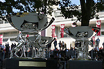 October 03, 2015, Paris -  Trophies for the winners of the Qatar Total Arabian Trophy des Juments (Group I) at  Longchamp Race Course