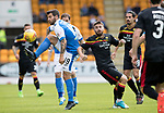 St Johnstone v Partick Thistle…19.08.17… McDiarmid Park… SPFL<br />Richie Foster and Steven Lawless<br />Picture by Graeme Hart.<br />Copyright Perthshire Picture Agency<br />Tel: 01738 623350  Mobile: 07990 594431