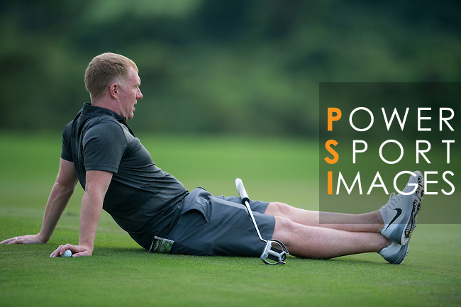 Paul Scholes during the World Celebrity Pro-Am 2016 Mission Hills China Golf Tournament on 21 October 2016, in Haikou, China. Photo by Marcio Machado / Power Sport Images