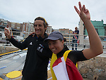 Julien Bontemps (left) Charline Picon from France  celebrating during the ISAF Sailing World Championships 2014 at the Real Club Maritimo of Santander on September 19, 2014 in Santander, Spain. Photo by Nacho Cubero / Power Sport Images