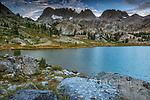 Ediza Lake, The Minarets, Ansel Adams Wilderness, Inyo National Forest, Eastern Sierra, California