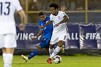 SAN SALVADOR, EL SALVADOR - SEPTEMBER 2: Weston McKennie #8 of the United States moves with the ball during a game between El Salvador and USMNT at Estadio Cuscatlán on September 2, 2021 in San Salvador, El Salvador.