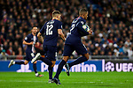 Kylian Mbappe of Paris Saint-Germain FC celebrates goal during UEFA Champions League match between Real Madrid and Paris Saint-Germain FC at Santiago Bernabeu Stadium in Madrid, Spain. November 26, 2019. (ALTERPHOTOS/A. Perez Meca)