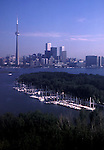 Toronto downtown aerial view C N Tower architecture buildings downtown Ontario Canada<br />