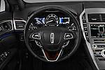Car pictures of steering wheel view of a 2018 Lincoln MKZ Hybrid-Select 4 Door Sedan Steering Wheel