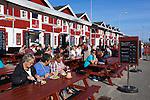 Denmark, Jutland, Skagen: Harbourside seafood restaurants | Daenemark, Juetland, Skagen: Seafood Restaurants im Hafen