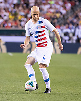 PHILADELPHIA, PA - JUNE 30: Michael Bradley #4 during a game between Curaçao and USMNT at Lincoln Financial Field on June 30, 2019 in Philadelphia, Pennsylvania.