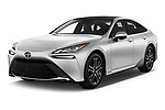 2021 Toyota Mirai Limited 4 Door Sedan Angular Front automotive stock photos of front three quarter view