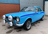 BNPS.co.uk (01202 558833)<br /> Pic: HampsonAuctions/BNPS<br /> <br /> Pictured: 1970 Ford Escort 1.6.<br /> <br /> Since the 1990s, Geoff Barlow, 46, has collected dozens of classic cars from an Escort Mexico replica to several types of Transit, Cortina, and Sierra.<br /> <br /> However, he still regrets selling the first car which inspired his passion, a 1980 Escort Mark 2 he bought from his sister in 1992.  <br /> <br /> Geoff's fascination with Fords gathered pace in the last decade and he 'lost control,' buying as many Fords as he came across and saving them from disrepair.