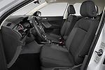 Front seat view of 2019 Volkswagen T-Cross Life 5 Door SUV Front Seat  car photos