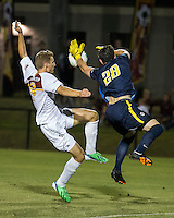 The Winthrop University Eagles played the College of Charleston Cougars at Eagles Field in Rock Hill, SC.  College of Charleston broke the 1-1 tie with a goal in the 88th minute to win 2-1.  Max Hasenstab (18), Alex Young (28)