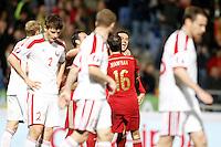 Spain's Pedro Rodriguez celebrates goal during 15th UEFA European Championship Qualifying Round match. November 15,2014.(ALTERPHOTOS/Acero) /NortePhoto nortephoto@gmail.com