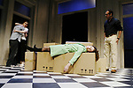 THE WOMAN BEFORE<br /> by Roland Schimmelpfennig<br /> Director Richard Wilson<br /> Royal Court Theatre 05/05<br /> HELEN BAXENDALE - Romy             <br /> TOM RILEY - Andi<br /> SASKIA REEVES - Claudia<br /> NIGEL LINDSAY - Frank<br /> credit: Pete Jones / Performing Arts Images ***Educational Licence Use Only under Performing Arts Images Subscription Service.*** None of these images can be used commercially without prior written permission. ***Contact office@performingartsimages.com for details***