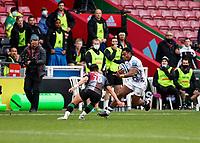 26th December 2020; Twickenham Stoop, London, England; English Premiership Rugby, Harlequins versus Bristol Bears; Siva Naulago of Bristol Bears trying to get around Marcus Smith of Harlequins
