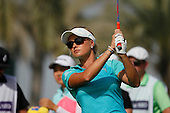 Amy Boulden (WAL) during round four of the 2014 Omega Dubai Ladies Masters being played over the Majlis Course, Emirates Golf Club, Dubai from 10th to 13th December 2014: Picture Stuart Adams, www.golftourimages.com: 13-Dec-14