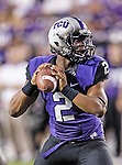 TCU Horned Frogs quarterback Trevone Boykin (2) in action during the game between the Grambling State Tigers and the TCU Horned Frogs  at the Amon G. Carter Stadium in Fort Worth, Texas. TCU defeats Grambling State 59 to 0.