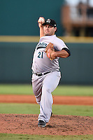 Jupiter Hammerheads pitcher Blake Logan (21) delivers a pitch during a game against the Bradenton Marauders on June 25, 2014 at McKechnie Field in Bradenton, Florida.  Bradenton defeated Jupiter 11-0.  (Mike Janes/Four Seam Images)