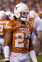 04 November 2006: Texas defender Michael Griffin warms up before the Longhorns 36-10 victory over the Oklahoma State University Cowboys at Darrel K Royal Memorial Stadium in Austin, Texas.