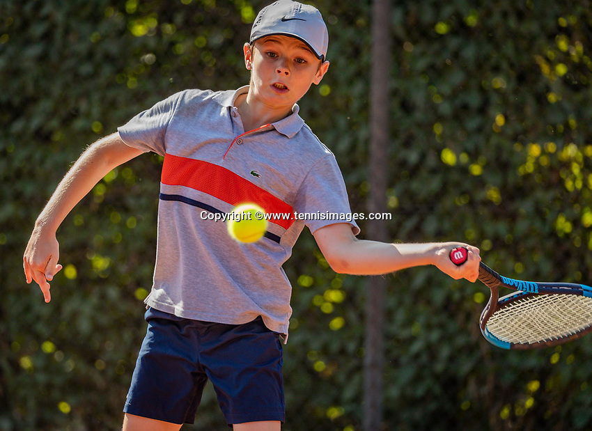 Hilversum, Netherlands, Juli 29, 2019, Tulip Tennis center, National Junior Tennis Championships 12 and 14 years, NJK, Maurits Tukker (NED)<br /> Photo: Tennisimages/Henk Koster